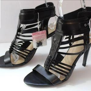 New Zara Black Strappy Heels